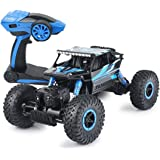 Rc Car,KingPow-Babrit Electric Remote Control Car 2.4GHz  Rock Cars Radio Control High Speed 25Kilometer/h Racing Off Road Rc Truck - Blue