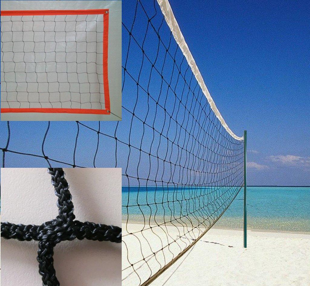 Red de voley playa de polipropileno sin nudos superior Redes Deportivas On Line