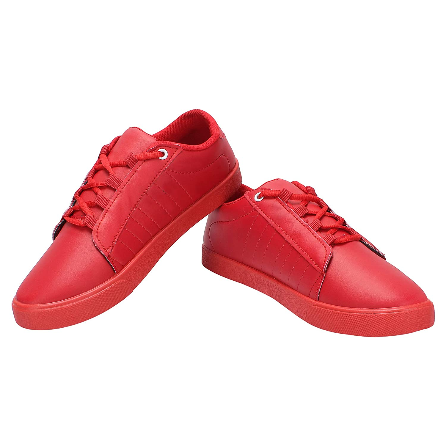 SIDEWOK Casual Red Colour Sneaker Shoes