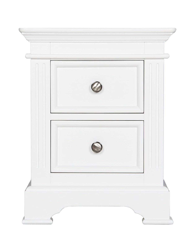 Chateau weiß Gestrichene Möbel mit 2 Schubladen, Nachttisch, Tisch, 1 Paar
