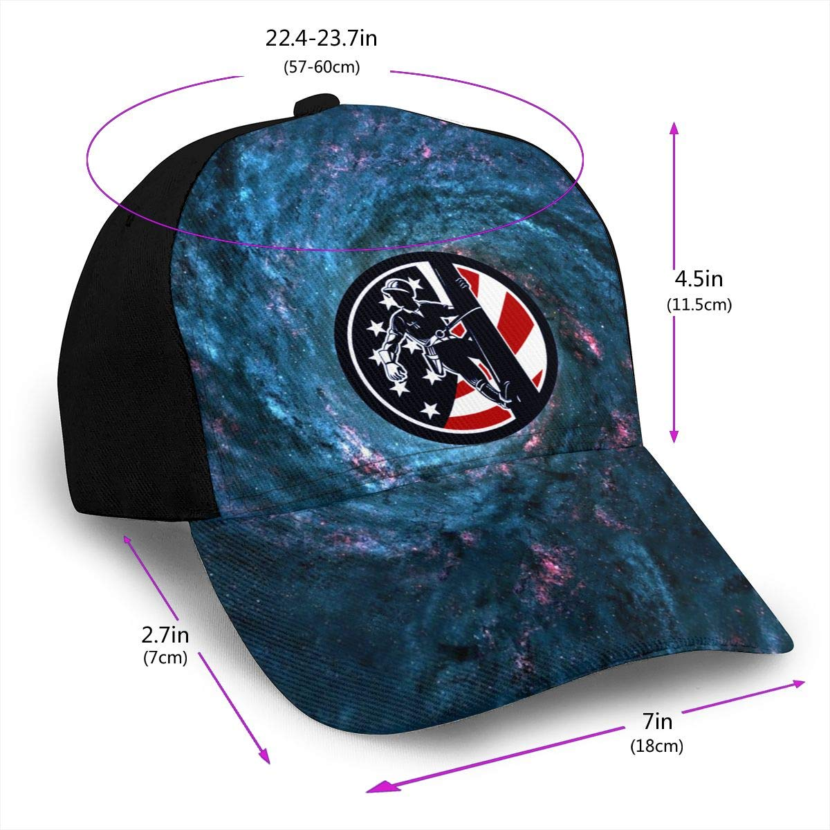 American Flag Lineworker Lineman Classic Adult Cap Printing Duck Tongue Baseball Hat Snapback Unisex Hat Adjustable