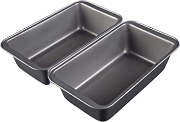 AmazonBasics - Moldes para hornear pan, antiadherentes, de acero ...