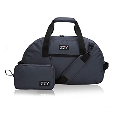 Foldable Small Gym Duffel Bag,Weekender Bag for Gym Travel (Gray)