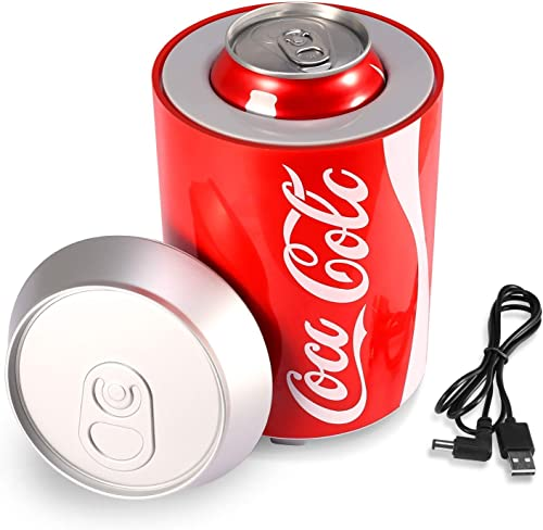 Single Can USB Desk Fridge USA Beverage Chiller Thermoelectric 1 Can Countertop Mini Refrigerator Cooler