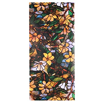 Kase Kech Xcm D Color Magnoliaeflora Sunscreen Glass Window - Stained glass window stickers amazon
