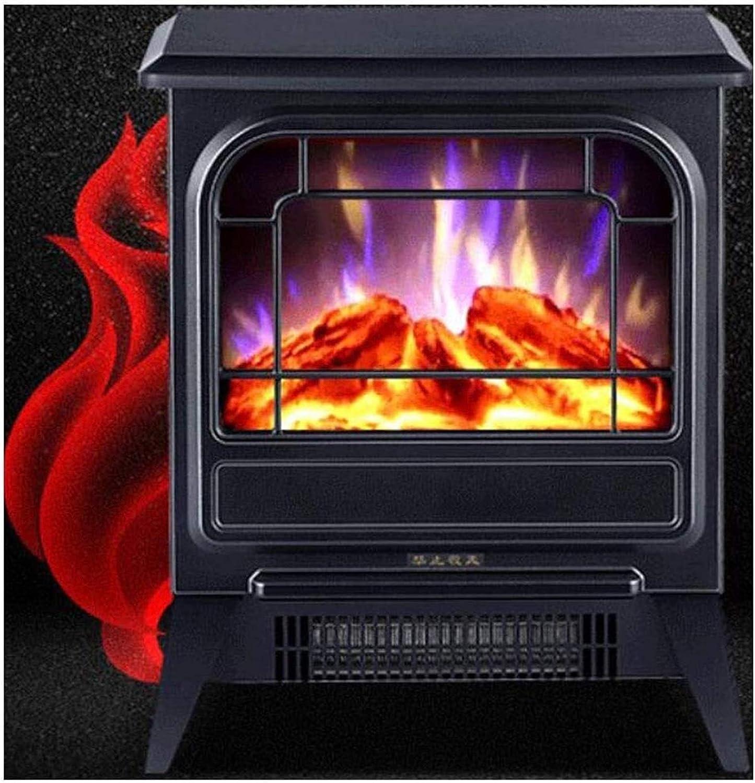 YANJ Calentador eléctrico de Chimenea con Llama Efecto Realista, Estufa portátil, Independiente Chimenea de calefacción Estufa I