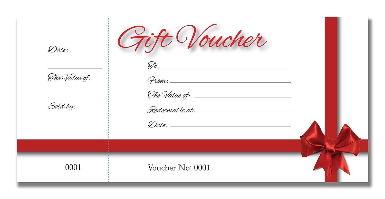 50 pagine libro dei coupon 9,9 x 21,1 cm 200 g//mq Biglietti regalo con fiocco rosso per certificati buono regalo