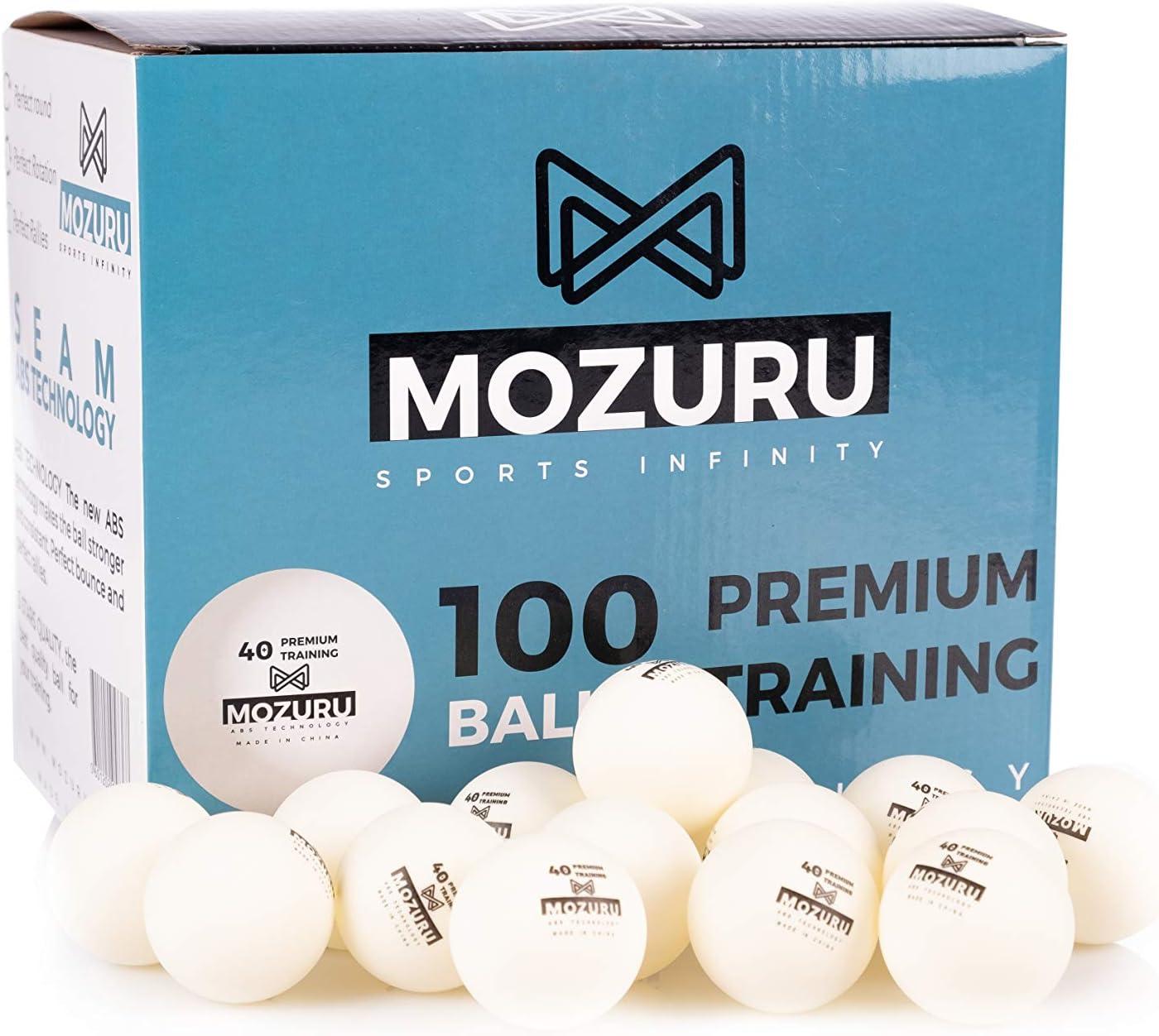 MOZURU Pelotas de Ping Pong Pack 100 Unidades, 100 Pelotas de ...