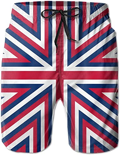 Mens Flag of The United Kingdom Pattern Boardshorts Beach Pants