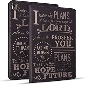 iPad 9.7 2018/2017 Case, iPad Air 2, iPad Air, Pro 9.7 Case, Protective Leather Case, Adjustable Stand Auto Wake/Sleep Smart Case for ipad 6th/5th Gen - Quotes Bible Verse Jeremiah 29:11