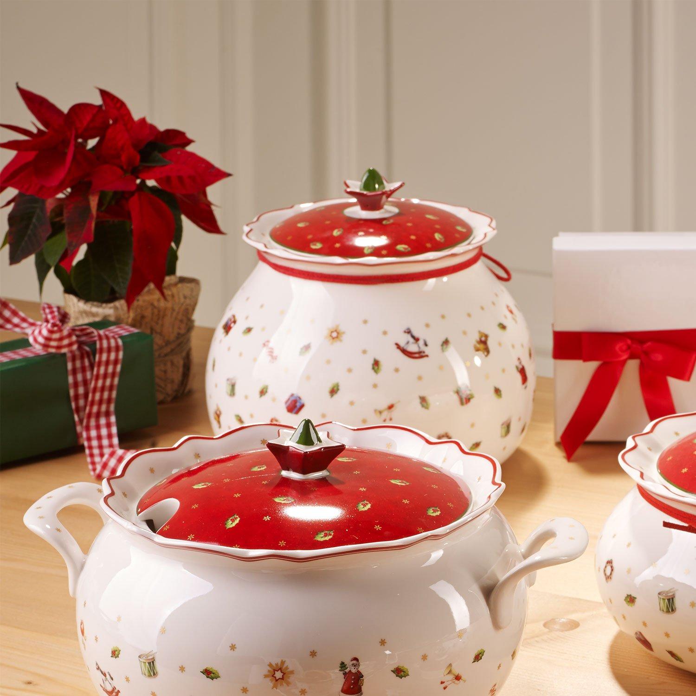 Villeroy Villeroy Villeroy & Boch Toy's Delight Große Vorratsdose, Premium Porzellan, Weiß Rot B00ZFXM1PY Zierschmuck e36d85