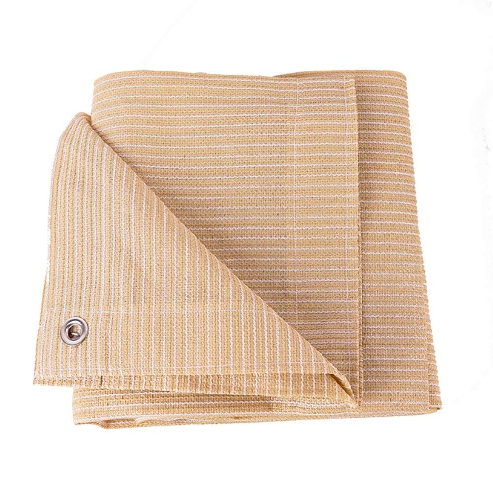 Colore : Beige, Dimensioni : 1x1m GuoWei 85/% Crema Solare Vele Parasole Maglia Netto con Gommine per Giardino Allaperto Copertina Personalizzabile