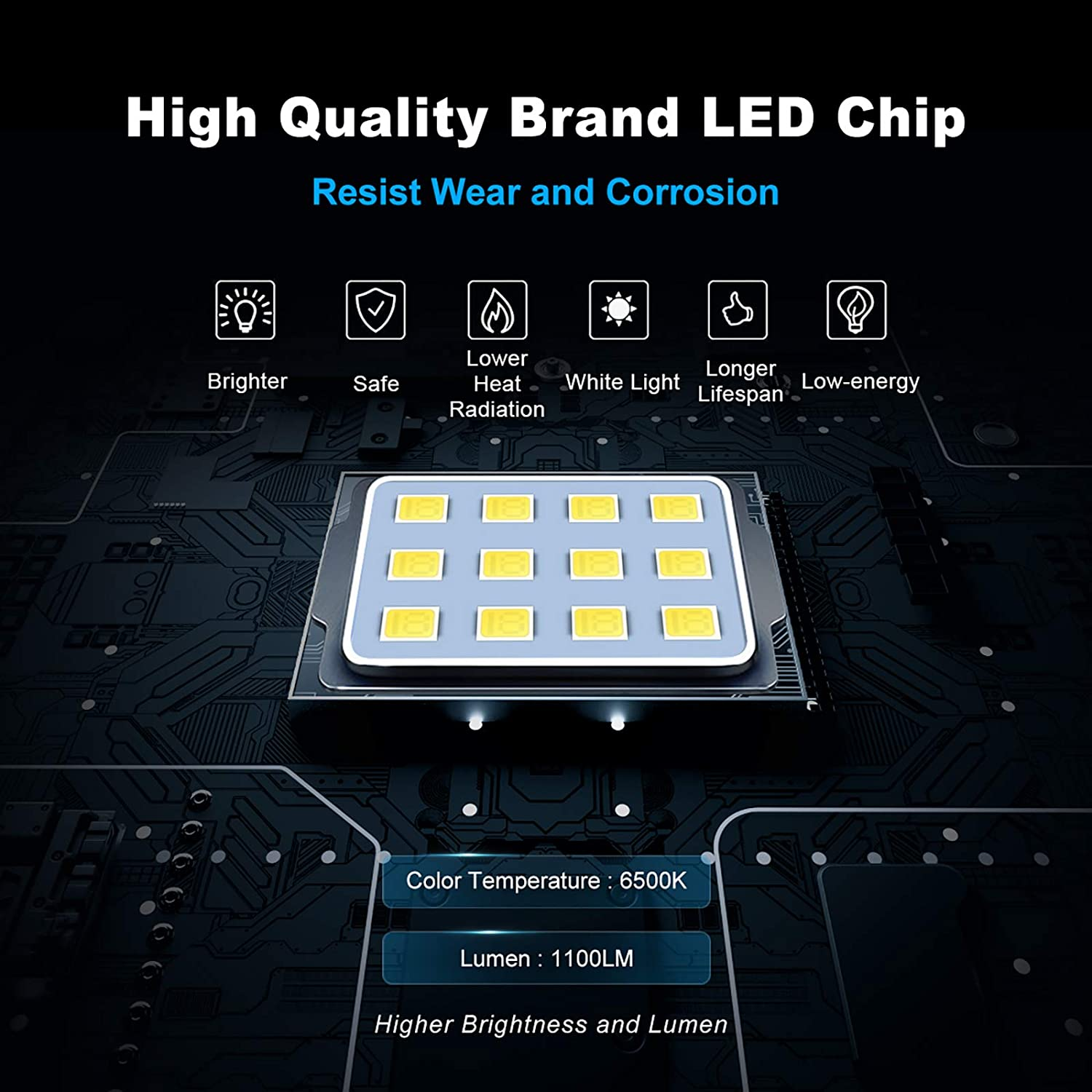 MEIKEE Led Floodlight Outdoor IP66 Waterproof Super Bright led Spot Lights Daylight White Light for Garden Billboard Daylight White Yard Patio Warehouse Garages 2 Pack 10W LED Security Light