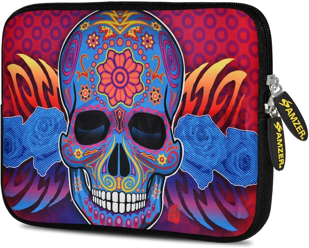 Amzer 10.5-Inch Designer Neoprene Sleeve Case Pouch for Tablet eBook and Netbook AMZ5195105 Skull Fashion