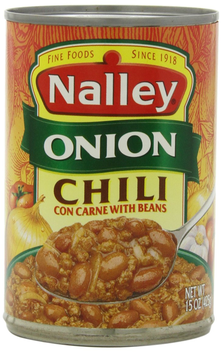 Nalley Chili Onion with Beans, 14-Ounce Cans (Pack of 8)