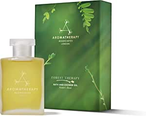 Aromatherapy Associates Forest Therapy Bath and Shower Oil, 1.85Floz. Inspired by the Japanese art of Forest Bathing. Nature's most caring ingredients of Pink Pepper, Cypress & Ho Wood essential oils.