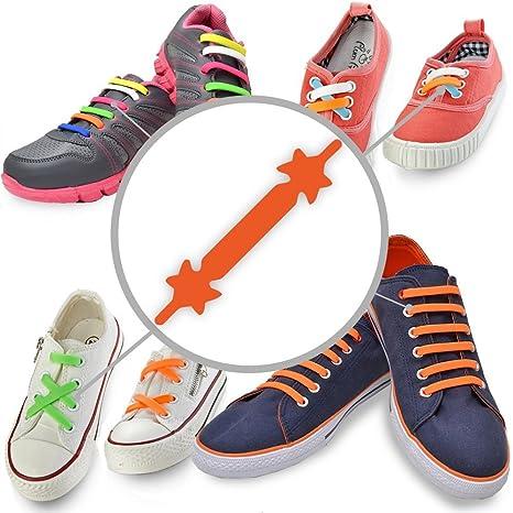 Sneakers arancioni con allacciatura elasticizzata per bambini 3KQuw