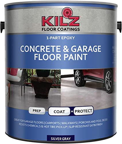 KILZ L377711 1-Part Epoxy Acrylic Interior/Exterior Concrete