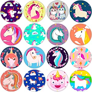 16pcs Unicorn Series Fridge Magnets Beautiful Glass Creative Pushpins for Whiteboard Office Calendar Decorative Popular Home Wall Décor Set