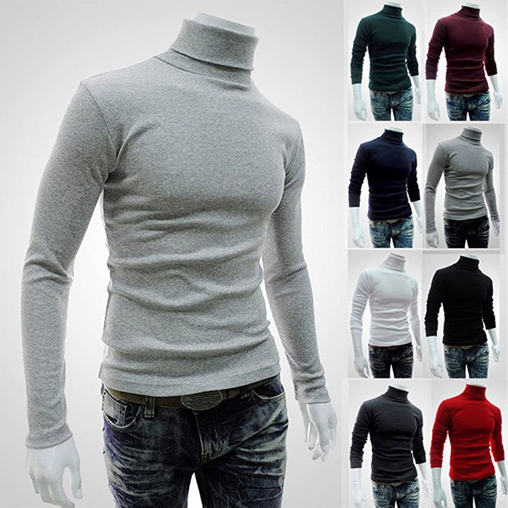 AIMIUL Mens Slim Fit Casual Basic Thermal Turtleneck Pullover Sweaters