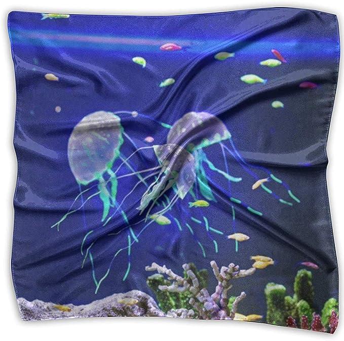 YudoHong Pañuelo cuadrado bajo el agua coral medusa diadema unisex ...
