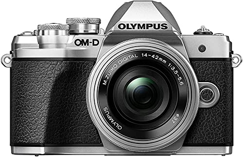 Olympus OM-D -M10 Mark III 16MP 4K Digital Camera Kit w/14-42mm EZ Lens (Silver) and Camera Bag/ US Only