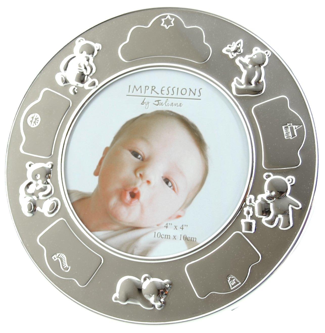 Juliana 17 cm rund gravierbar Baby Rahmen: Amazon.de: Küche & Haushalt