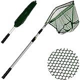 XUNMA Fishing Landing Net with Telescoping Pole Handle,67 Inch
