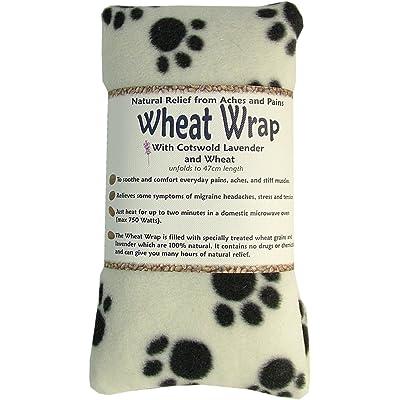 Vagabond Bags blé Wrap en crème Paw Polaire avec Cotswold Lavande et blé