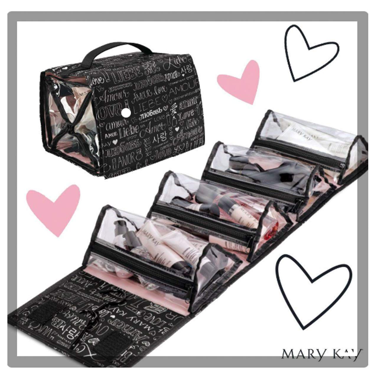 Amazon.com : Mary Kay Travel Roll up Bag 4 Removable Pouches : Mary Kay Makeup Bag : Beauty