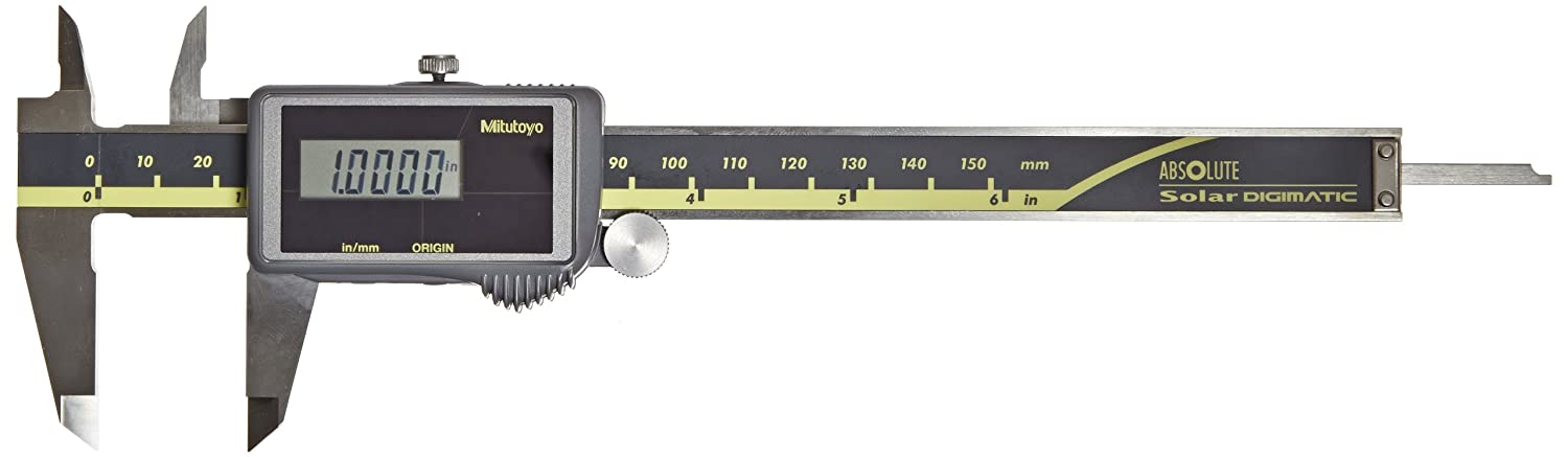 """0-6/"""" 150mm - FREE SHIPPING Solar Powered Mitutoyo 500-474 Digital Calipers"""