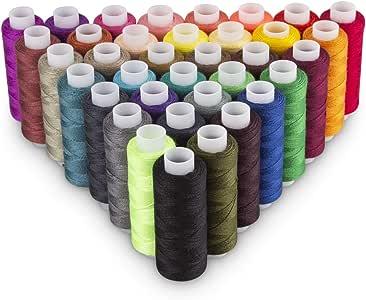 Origa - Juego de 60 bobinas de hilo de coser de poliéster, 250 ...