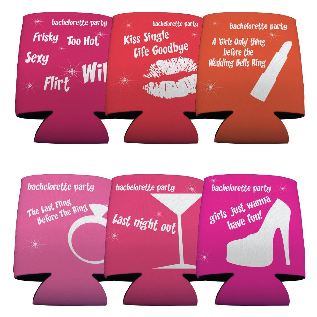 Amazon.com: Bachelorette - Funny Sayings Set - Set/6: Kitchen & Dining