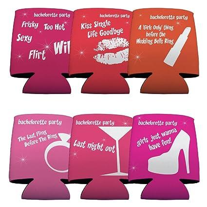 amazon com bachelorette funny sayings set set 6 kitchen dining
