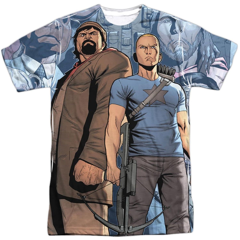 Archer & Armstrong Valiant Comics Heroes & Villains Adult Front Print T-Shirt