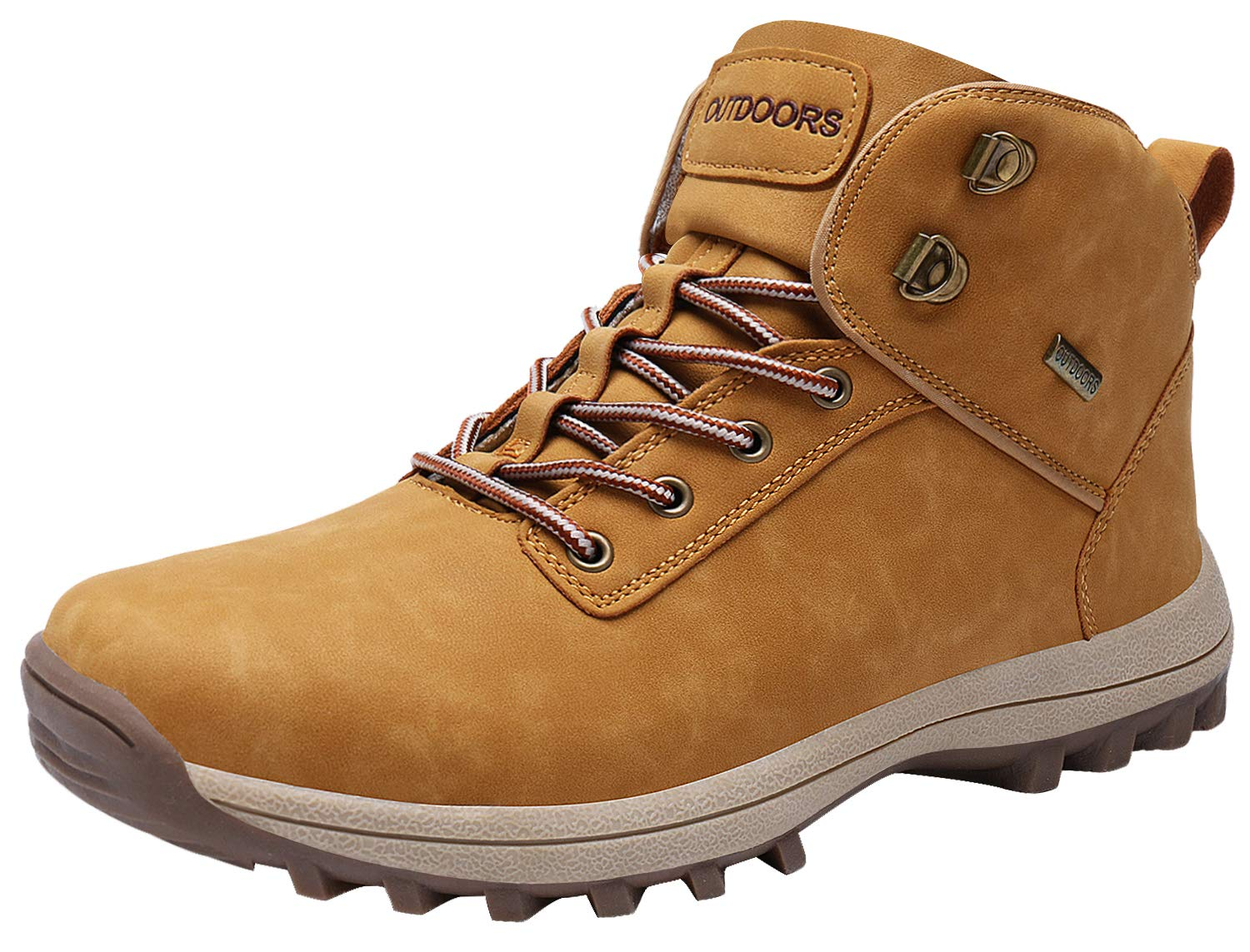 Caitin Men's Boots Winter Waterproof Leather Outdoor Hiking Shoes