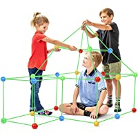 Modern Element Products 87 Pieces Flexible Construction Fort for Kids