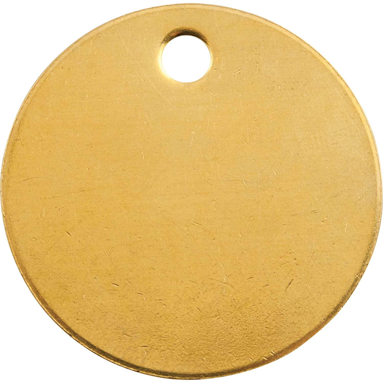 CH Hanson Marking Tags 41822 1' Diameter Brass Round, 100 pcs