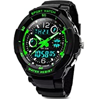 Digital Watches for Kids Boys Waterproof Outdoor Sports Digital Watches Analogue Watch with Alarm Clock/Timer/LED Light, Electronic Shockproof Wrist Watch for Teenagers Children's Watches