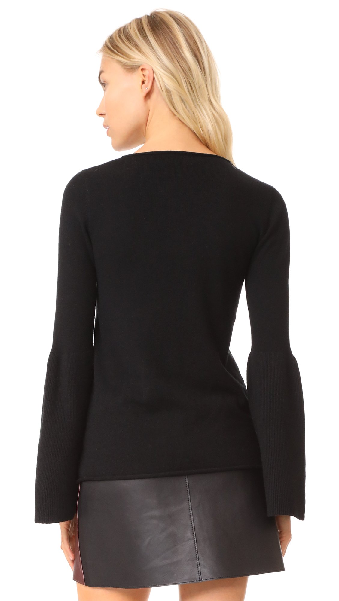 LINE Women's Fiona Bell Sleeve Sweater, Caviar, Large by LINE (Image #2)