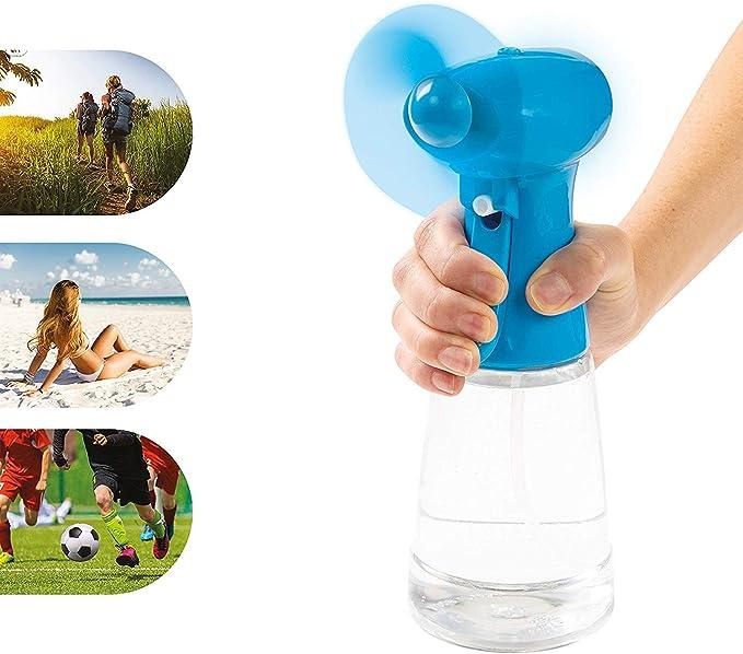 Invero - Ventilador portátil de Mano con pulverizador de Agua ...