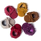 CoKate Baby Boys Girls Soft Sole Sneakers Toddler Tassel Bowknots PU Moccasins Crib Shoes