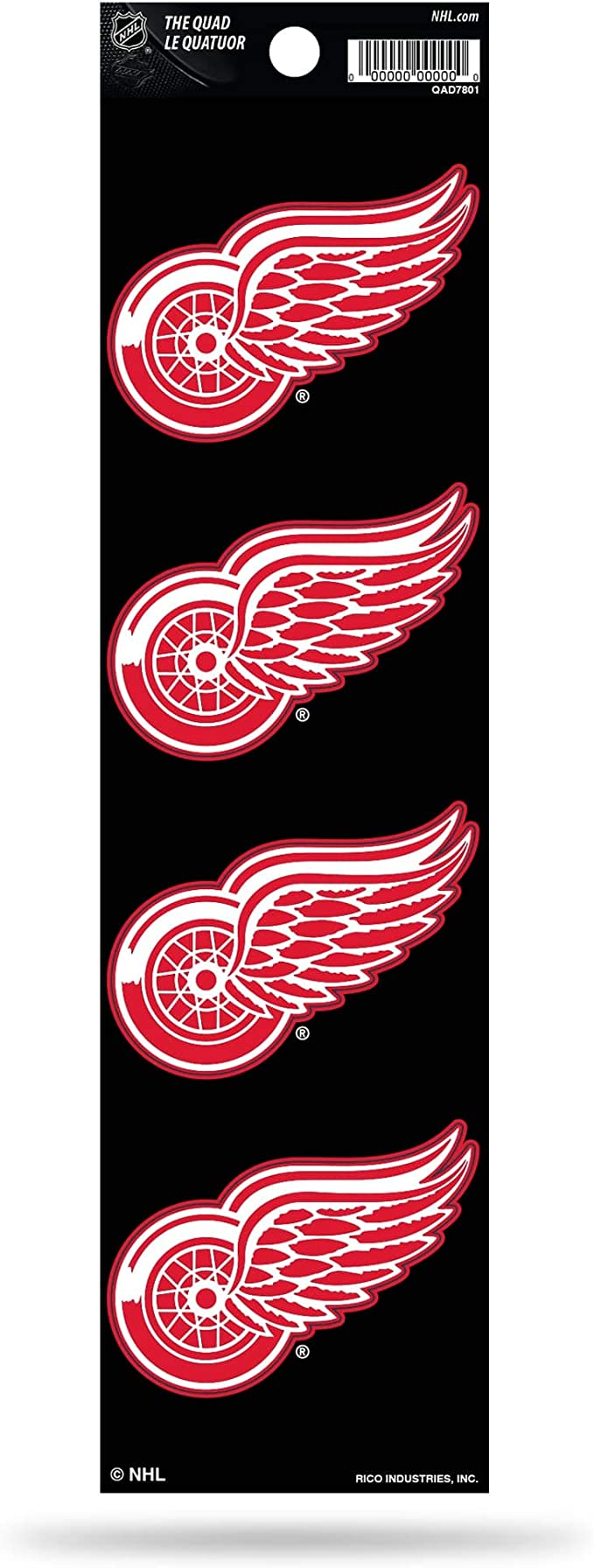 Nhl Rico Industries Die Cut 4 Piece The Quad Sticker Sheet Detroit Red Wings Sport Freizeit