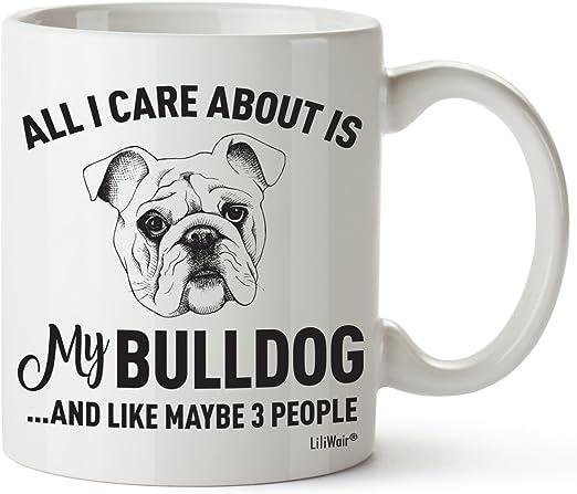 Amazon.com: BullDog mamá regalos taza para mujeres y hombres ...