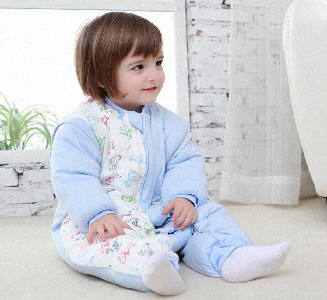 4864ec07f1 Bebé Saco de dormir con mangas largas con patas Pijama de invierno de baumwollen  Niño y ...