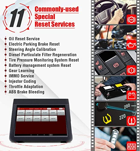 LAUNCH X431 V+ (Upgraded Version of X431 V PRO) Bi-Directional Full Systems  Diagnostic Scan Tool 11 Reset Functions Key Coding, ECU Coding, ABS