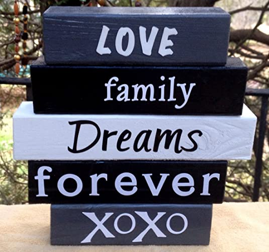 Wedding Love Word Block Set Wood Word Stacking Block Set For Home And Office
