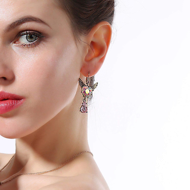 Cute Pink Wing Drop Earring Romantic Earring Fashion Jewelry