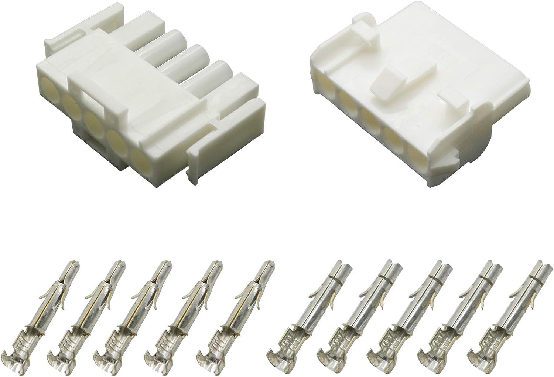 Stecker Set Steckverbinder Universal Mate N Lok 5-polig incl Kontakten
