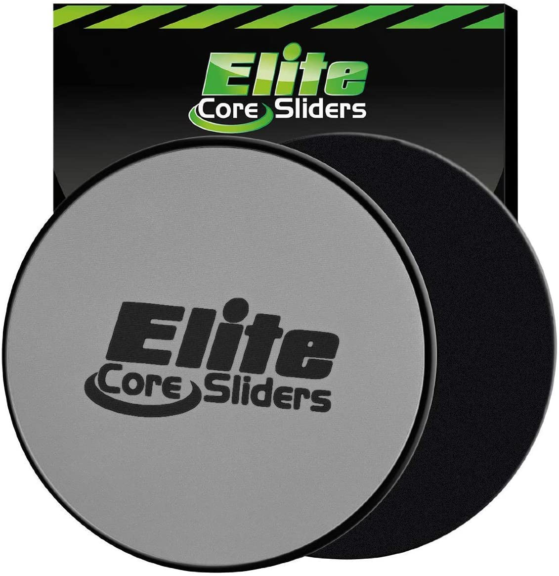 Elite Sportz Exercise Sliders are Double Sided and Work Smoothly on Any Surface. Wide Variety of Low Impact Exercise s You Can Do. Full Body Workout, Compact for Travel or Home Ab Workout